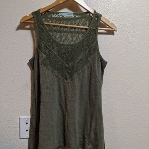 Maurice's Lace Green Tank D124